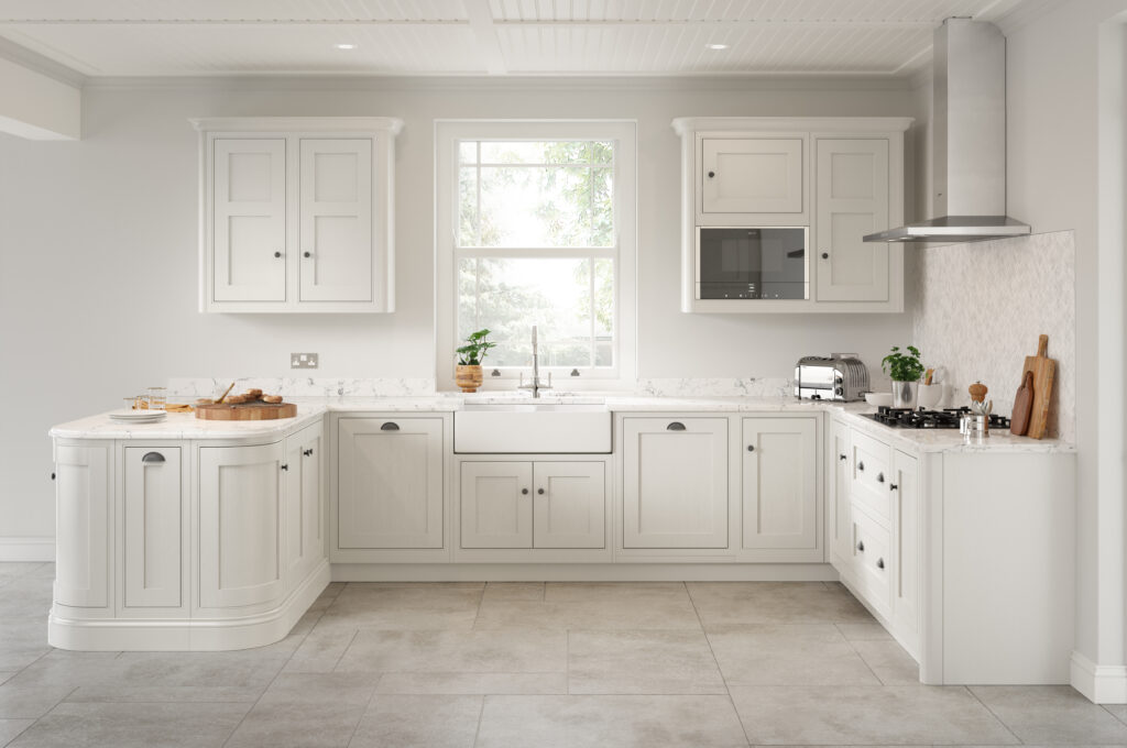 Classic white fitted kitchen