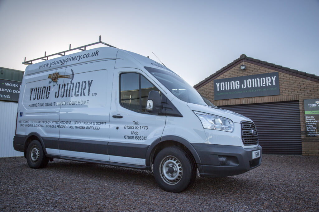 Young Joinery showroom and van
