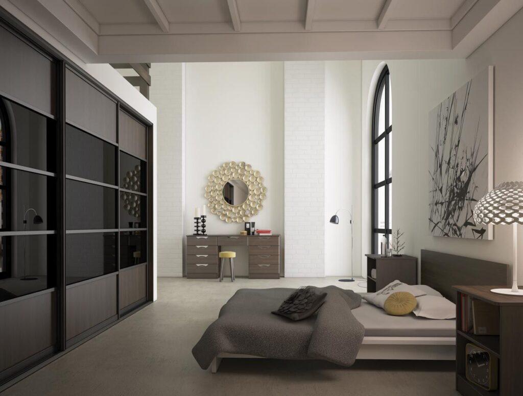Sliderobe doors black glass