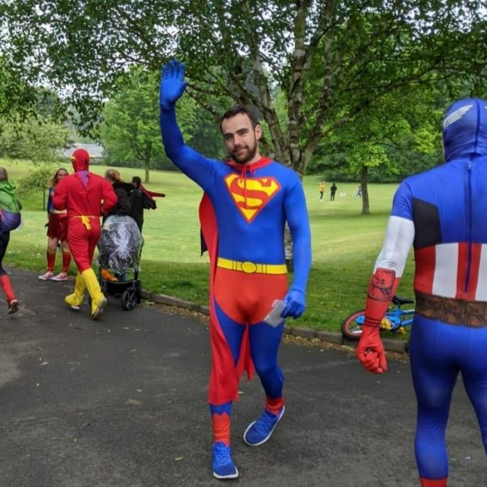 Charity event super heroes