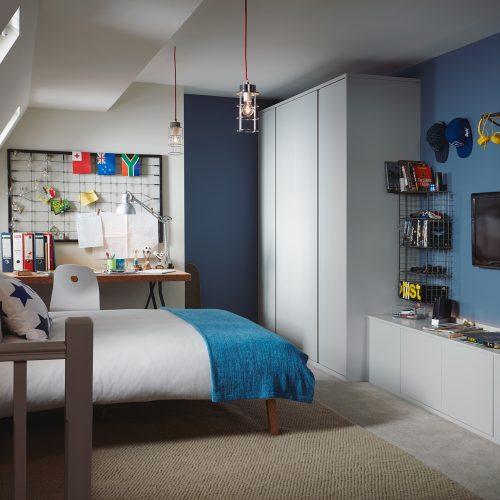 Stylish attic conversion bedroom