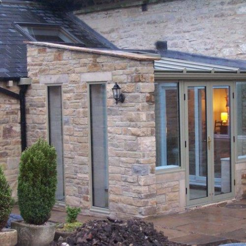 Modern extension in stone