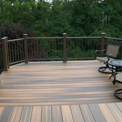 New decking and stairs