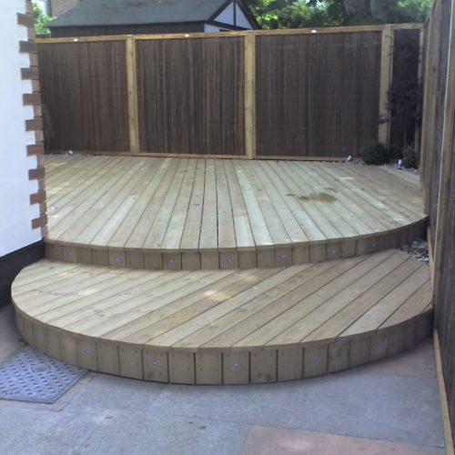 New curved decking