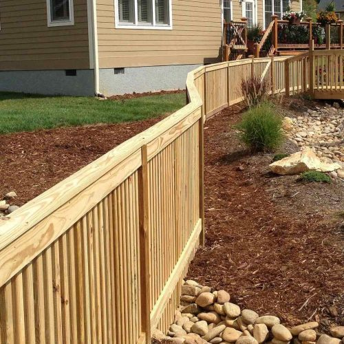 New wood fencing