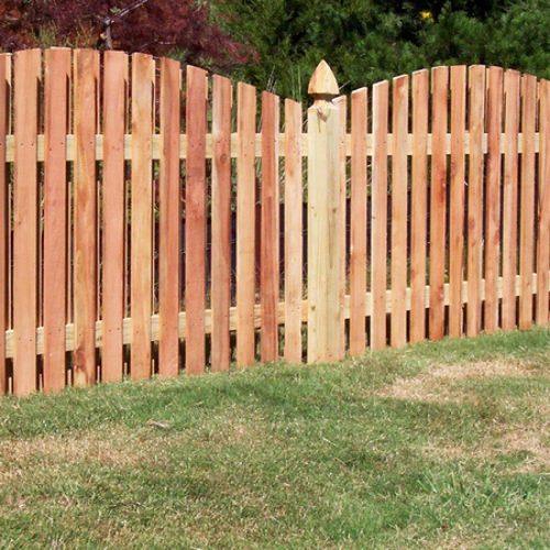 Stylish wood fencing