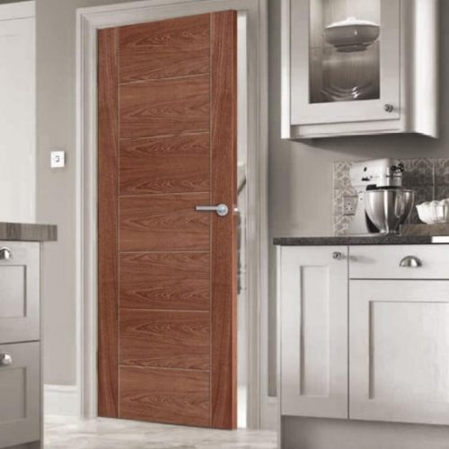 Internal door wood finish