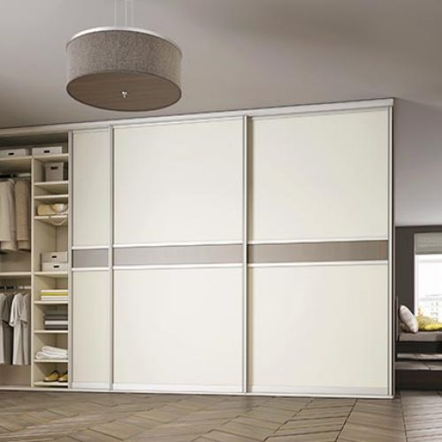 Sliderobe doors white finish
